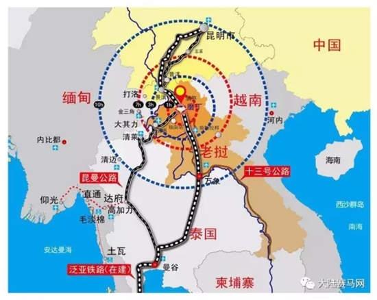 云南是中国通往中南半岛及南亚次大陆并自接沟通两大洋的陆上走廊和重