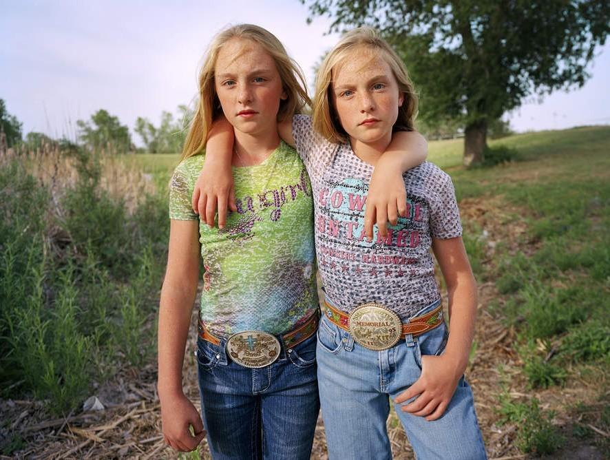马术少女:德克萨斯州的独特风景