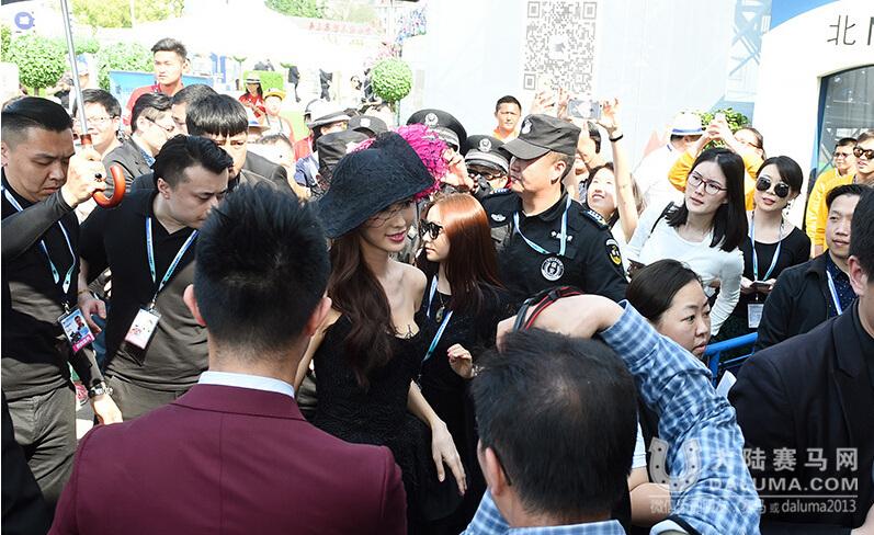 花样姐姐林志玲亮相上海马术冠军赛成焦点(图集)